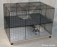 Diy Bunny Cage, Bunny Cages, Rabbit Cages, Bunny Rabbits, Indoor Rabbit Cage, Indoor Bunny House, Rabbit Hutch Indoor, Rabbit Habitat, Bunny Room