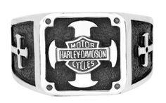 Harley-Davidson Mens .925 Silver Cross Square Ring by Mod Jewelry (11)  http://bikeraa.com/harley-davidson-mens-925-silver-cross-square-ring-by-mod-jewelry-11/ #harleydavidsonleatherjackets