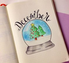This is how I set up my Bullet Journal for December. Lots of festive headers and cute doodles! - www.christina77star.co.uk