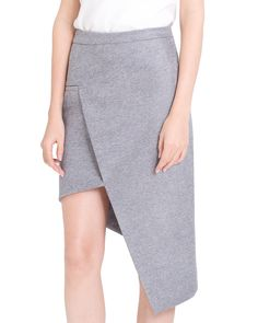 STAGGERED SKIRT - GREY – ARIS