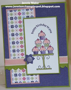 Jennie M's Stampin Spot: Crazy for Cupcakes