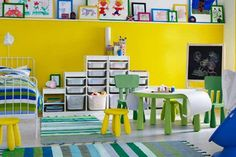 Cool Yellow Kids' Rooms Decorating Ideas
