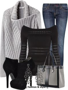 Woman apparel casual fashion with jeans