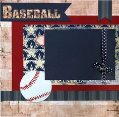Hey, I found this really awesome Etsy listing at https://www.etsy.com/listing/174625926/premade-baseball-scrapbook-page