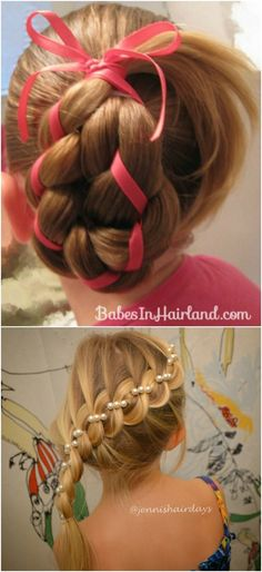 Four-Strand Ribbon Braid - 12 Super Cute DIY Christmas Hairstyles for All Lengths