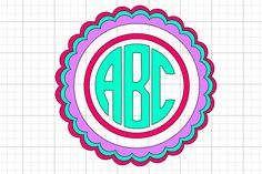 Gift Ideas Make Easy Monograms with Cricut -Three Ways - Daily Dose of DIY Top 3 Solar Portable Elec Cricut Monogram, Free Monogram, Monogram Design, Monogram Letters, Free Fonts For Cricut, Swirly Fonts, Cricut Design Studio, Applique, Cricut Tutorials