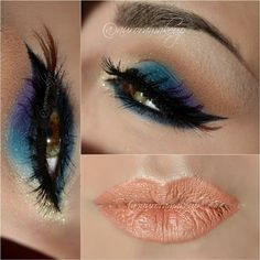 Colorful makeup #Motivescosmetics