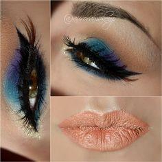 Colorful makeup #Motivescosmetics