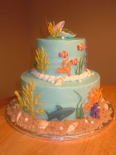 baby shower cakes ocean theme | Under the Sea Baby Shower » Under the sea-left