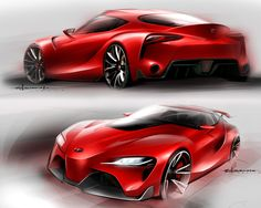 Toyota FT-1 Concept - Design Sketches