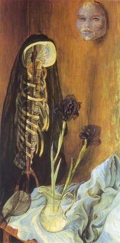 Still Life with Widow's Veil - Otto Dix, 1925 (via Cave to Canvas)