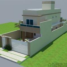 Projeto Casa Térrea CT - 26 | Planta de Casa Pronta Outdoor Furniture Sets, Outdoor Decor, Pool Designs, House Front, Ideas Para, Mansions, House Styles, 3d, Home Decor