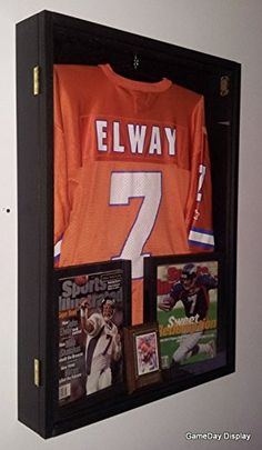 d3d372de5 Jersey Display Case Jersey Display Frame Jersey Shadow Box Deep with Hinged  Door Black GameDay Display