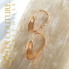 Bella Couture® - SOLD! - RARE! Gorgeous Antique Victorian 18K Yellow Gold Rose