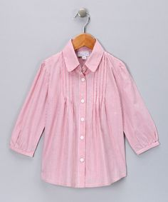 Take a look at this Red Stripe Shirt - Girls by Fantaisie Kids on #zulily today!