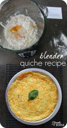 The easiest quiche recipe because you make it all in the blender!  Whip up breakfast or dinner in a snap!