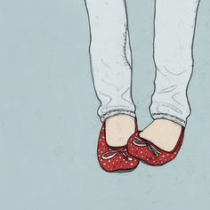 red shoes, illustration