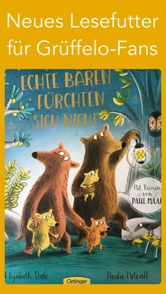Echte Bären fürchten sich nicht Everything was done right in this funny and exciting story. The result is a brilliant picture book with great rhymes by the legendary author Paul Maar as a translator a Best Children Books, My Children, Childrens Books, Paul Maar, Three Little Pigs, Adhd Kids, Kids Corner, Illustrations, Kids And Parenting