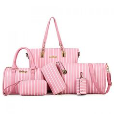 Trendy PU Leather and Striped Design Shoulder Bag For Women 24.11 USD