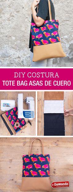 Tutorial DIY - CÓMO COSER UN TOTE BAG CON ASAS DE CUERO en DaWanda.es