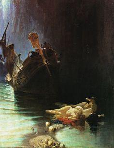 Edoardo Dalbono La leggenda delle sirene, 1871  Olio su tela, 99 x 78 cm Napoli, Accademia di Belle Arti.