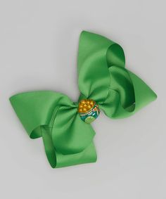 Look at this Green Pot of Gold Bow Clip on #zulily today!