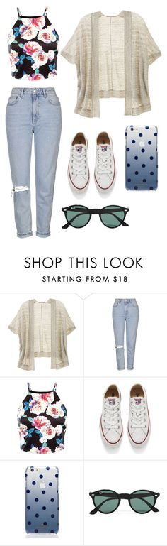 """""""Sans titre #33"""" by disappear-smile ❤ liked on Polyvore featuring Victoria's Secret, Topshop, Converse, Kate Spade and Ray-Ban"""