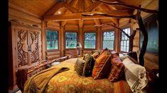 Modern cabin bedroom