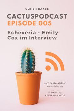 Emily Cox ist Kaktus-Junggärtnerin, sie hat im vergangenen Jahr ihre Ausbildung bei Kakteen-Haage begonnen. Ihr Fachgebiet liegt eigentlich ein bisschen neben den Kakteen...heute geht es um Echeveria!   #CactusPodcast #Kaktus #Podcast #KakteenHaage #UlrichHaage #Haagelife #Interview #Kakteen