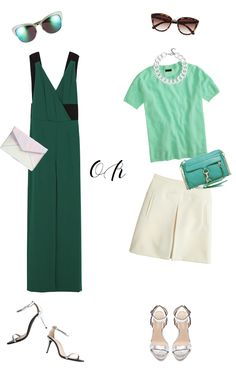 Two ways to wear green for spring