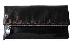 Ladies Metallic Folded Faux Leather Clutches Purses Evening Club Handbags  Black  Unbranded  Clutch. Hi Korean Fashion 60ba47f388cb1