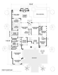 Vista ppal Casa Moderna  No.1 Planos de Viviendas - Planos de casas modernasPlanos de Viviendas - Planos de casas modernas