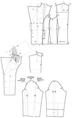 Pattern jacket: http://odensa-sama.ru/postroenie-vykrojki-kurtki-bushlata/