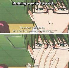 Me during tests. (Kuroko no Basket) Anime, being accurate to life. What just happened? Otaku Anime, Manga Anime, Anime Boy Art, Haikyuu, Saiunkoku Monogatari, 4 Panel Life, Funny Memes, Hilarious, Funny Shit