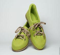 Купить  - салатовый, яблочный, обувь ручной работы, обувь на заказ, обувь для дома, обувь для улицы