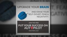 (Invite) Free Masterclass: Put Your Success on Auto Pilot Invite, Invitations, Mind Tricks, Boot Camp, Master Class, Self Improvement, Pilot, Mindfulness, Success