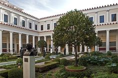 Constructed in the early 1970s, the Getty Villa is modeled after a first-century Roman country home.