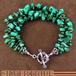 Navajo Native American Malachite And Tiger Eye Bead Bracelet