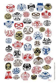 luchadores-Card or print for brothers!