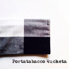 Portatabacco Qucheta in stoffa, fatto a mano, con tasca interna per filtri e cartine
