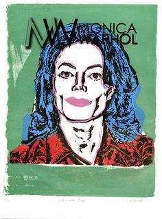 White Mike by Monica Warhol Warhol, Mj, Pop Art, Illustrations, Celebrities, Drawings, Artwork, Color, Celebs