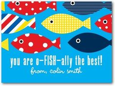 Fish-tastic Friend - Valentine's Day Cards for Kids in Bora Bora | Ann Kelle