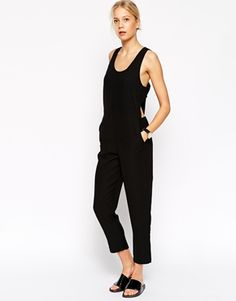 ASOS Jumpsuit With Banded Cut Out Sides