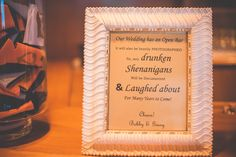 Funny reception warning for guests   Matt Steeves Photography