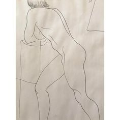 Figurative Drawing, Standing Male Nude by James Frederic Bone Drawing Stand, Fine Art Drawing, Line Drawing, Chicago Artists, University Of Arkansas, Figurative, 1990s, Pride, Sculpture