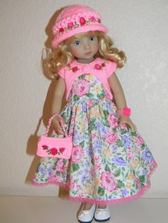 "Elegant Roses Knit Embroidered Outfit for Dianna Effner Little Darling 13"" | eBay"