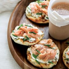 Smoked-Trout-and-Caper-Cream-Cheese Toasts | Inspired by the classic combination of bagels with lox and cream cheese, Tory Miller devised this variation using smoked, locally raised trout and homemade English muffins. It would be equally good on other breads, such as a baguette, or even the bagel that inspired it.