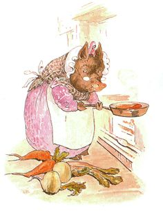 THIS pig had a bit of meat; ~ Cecily Parsley's Nursery Rhymes, 1922, illustration by Beatrix Potter