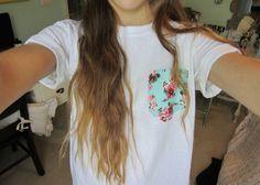 Baby Rose White Pocket T Shirt – Fresh-tops.com