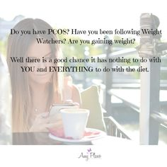 Weight Watchers and PCOS by Amy Plano, The PCOS Dietitian - helping women with PCOS control their symptoms through diet and lose weight Weight Watchers Program, Weight Loss Program, Weight Loss Journey, Trying To Lose Weight, Weight Gain, Fat For Fuel, Low Carbohydrate Diet, Low Fat Diets, Registered Dietitian